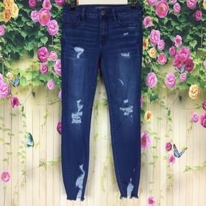 American Eagle Outfitters Distressed Jegging Sz 4